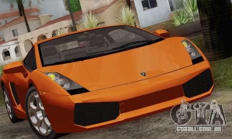 Lamborghini Gallardo 2005 para GTA San Andreas vista direita