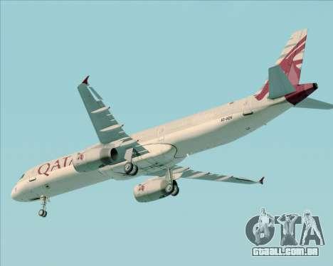 Airbus A321-200 Qatar Airways para GTA San Andreas vista superior