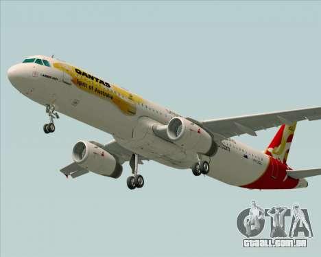 Airbus A321-200 Qantas (Wallabies Livery) para GTA San Andreas vista traseira