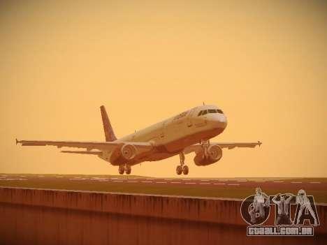 Airbus A321-232 Lets talk about Blue para GTA San Andreas esquerda vista