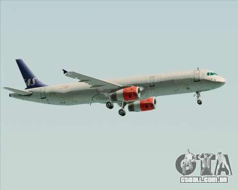 Airbus A321-200 Scandinavian Airlines System para vista lateral GTA San Andreas
