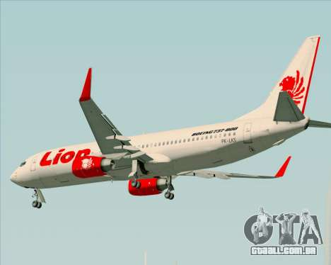 Boeing 737-800 Lion Air para GTA San Andreas vista inferior