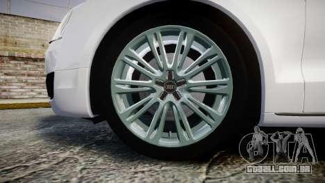 Audi A8 Limousine para GTA 4 vista de volta