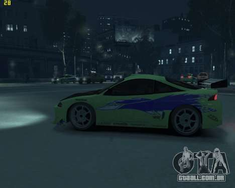 Mitsubishi Eclipse from Fast and Furious para GTA 4 esquerda vista