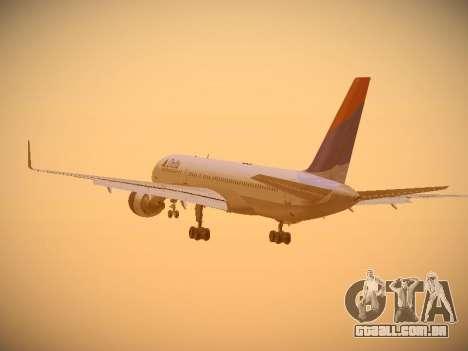Boeing 757-232 Delta Airlines para vista lateral GTA San Andreas