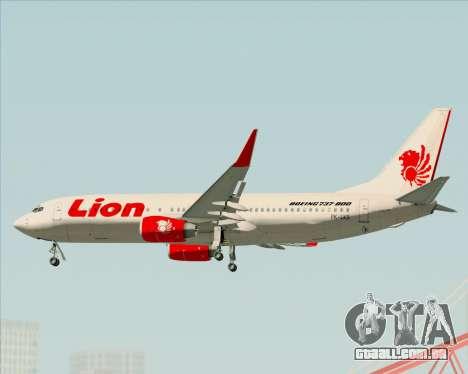 Boeing 737-800 Lion Air para o motor de GTA San Andreas