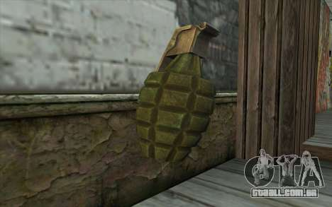 NOS Граната de Battlefield: Vietnam para GTA San Andreas segunda tela
