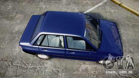 Kia Pride 132 SE para GTA 4 vista direita