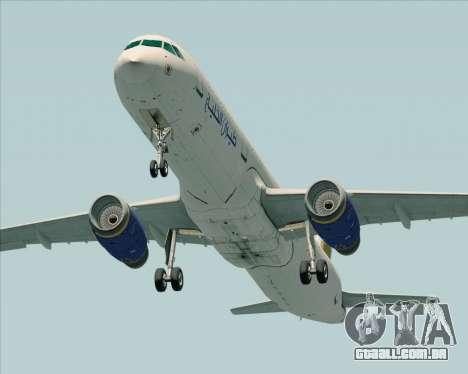 Airbus A321-200 Gulf Air para GTA San Andreas vista direita