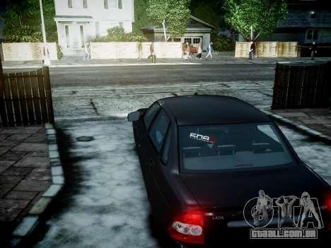 VAZ 2170 para GTA 4 vista de volta