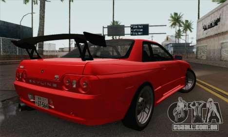 Nissan Skyline GT-R32 para GTA San Andreas esquerda vista