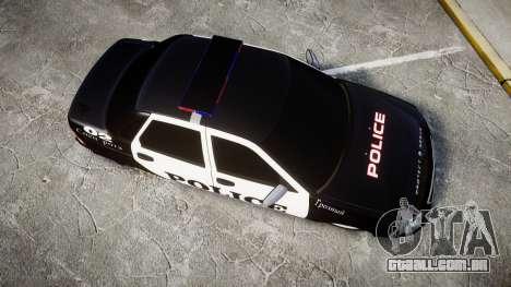 VAZ-2170 Priora Police para GTA 4 vista direita