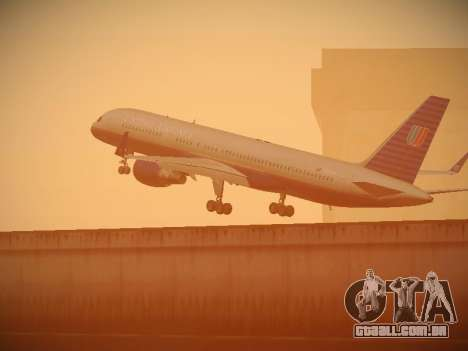 Boeing 757-224 United Airlines para as rodas de GTA San Andreas