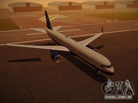Boeing 757-224 United Airlines para GTA San Andreas interior