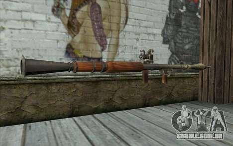 РПГ-7В de Battlefield: Vietnam para GTA San Andreas segunda tela
