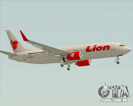 Boeing 737-800 Lion Air para vista lateral GTA San Andreas