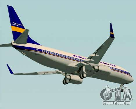 Boeing 737-800 World Travel Airlines (WTA) para GTA San Andreas vista interior