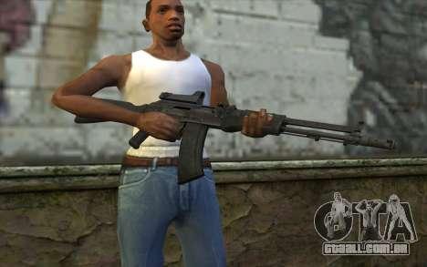 AK-107 para GTA San Andreas terceira tela