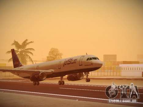 Airbus A321-232 jetBlue Red White and Blue para GTA San Andreas