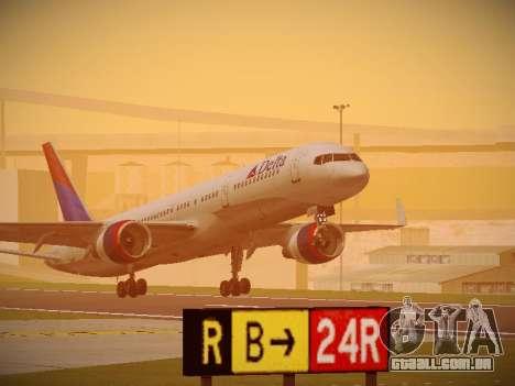 Boeing 757-232 Delta Airlines para GTA San Andreas esquerda vista