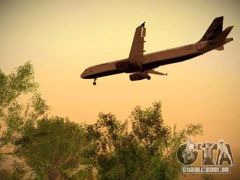 Airbus A321-232 Lets talk about Blue para GTA San Andreas vista traseira