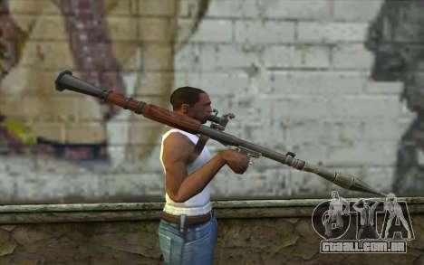 РПГ-7В de Battlefield: Vietnam para GTA San Andreas terceira tela