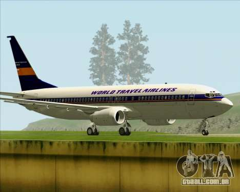 Boeing 737-800 World Travel Airlines (WTA) para GTA San Andreas vista direita