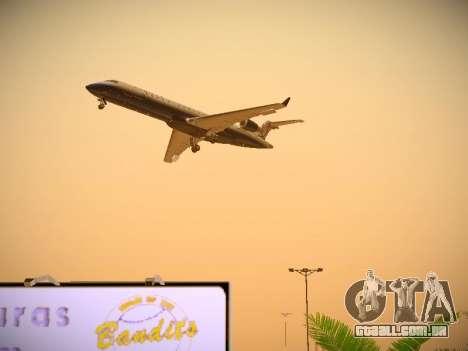 Bombardier CRJ-700 United Express para GTA San Andreas vista superior