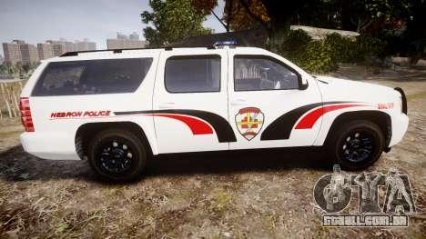 Chevrolet Suburban 2008 Police [ELS] Red & Blue para GTA 4 esquerda vista