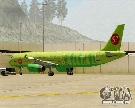 Airbus A321-200 S7 - Siberia Airlines para o motor de GTA San Andreas