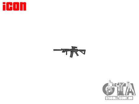 Máquina Tático M4A1 CQB alvo para GTA 4 por diante tela