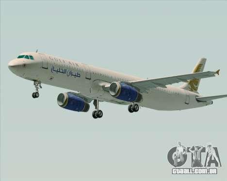 Airbus A321-200 Gulf Air para GTA San Andreas esquerda vista