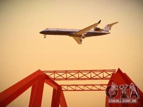 Bombardier CRJ-700 United Express para vista lateral GTA San Andreas