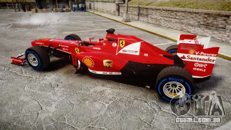 Ferrari F138 v2.0 [RIV] Alonso TFW para GTA 4 esquerda vista