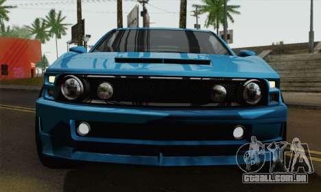GTA 5 Dominator para GTA San Andreas traseira esquerda vista