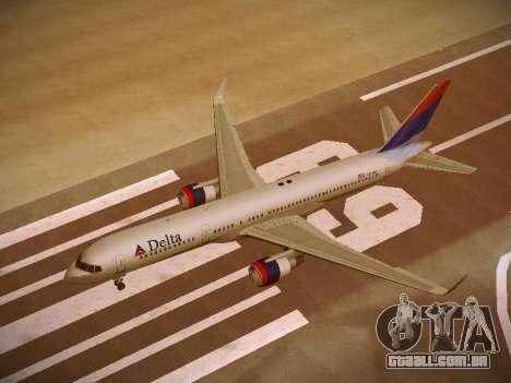 Boeing 757-232 Delta Airlines para GTA San Andreas interior