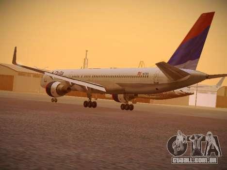 Boeing 757-232 Delta Airlines para GTA San Andreas traseira esquerda vista