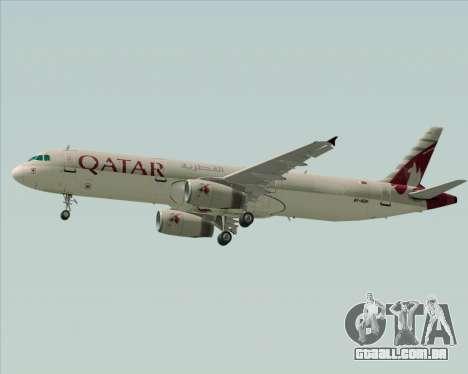 Airbus A321-200 Qatar Airways para vista lateral GTA San Andreas
