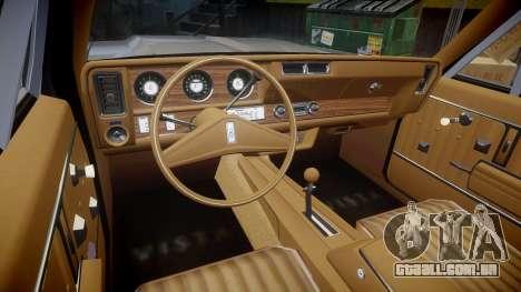 Oldsmobile Vista Cruiser 1972 Rims2 Tree4 para GTA 4 vista de volta