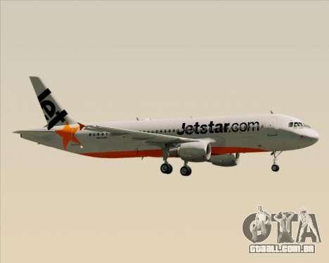 Airbus A320-200 Jetstar Airways para o motor de GTA San Andreas