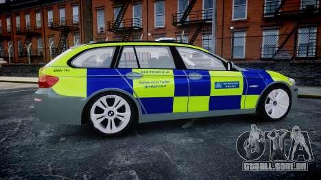 BMW 530d F11 Metropolitan Police [ELS] SEG para GTA 4 esquerda vista