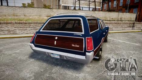 Oldsmobile Vista Cruiser 1972 Rims2 Tree4 para GTA 4 traseira esquerda vista