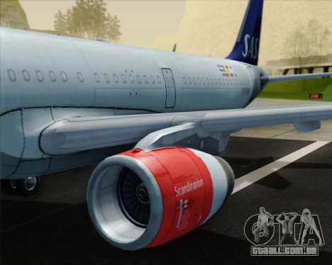 Airbus A321-200 Scandinavian Airlines System para o motor de GTA San Andreas