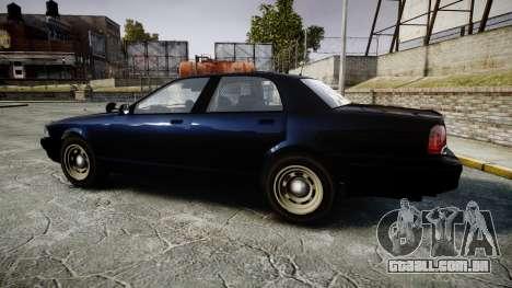 GTA V Vapid Cruiser Police Unmarked [ELS] Slick para GTA 4 esquerda vista