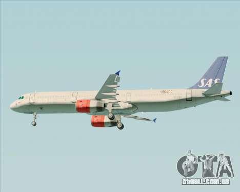 Airbus A321-200 Scandinavian Airlines System para as rodas de GTA San Andreas