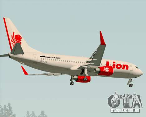 Boeing 737-800 Lion Air para GTA San Andreas vista traseira
