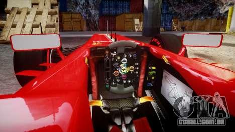 Ferrari F138 v2.0 [RIV] Massa TSSD para GTA 4 vista interior