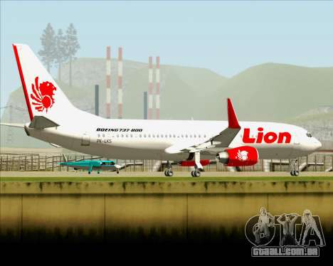 Boeing 737-800 Lion Air para GTA San Andreas vista superior
