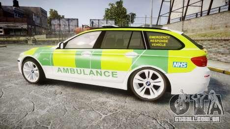 BMW 530d F11 Ambulance [ELS] para GTA 4 esquerda vista