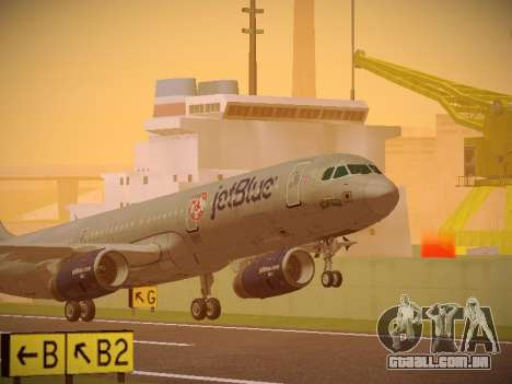 Airbus A321-232 jetBlue Boston Red Sox para GTA San Andreas esquerda vista